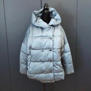ZARA hooded puffer coat